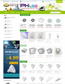 Mẫu web bán hàng, web shop, web sản phẩm