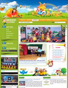 Web tin tức, web trường học, Trường mẫu giáo Họa Mi Tam Kỳ