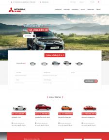 Mẫu web bán hàng, web kinh doanh xe mitsubishi Đà nẵng,