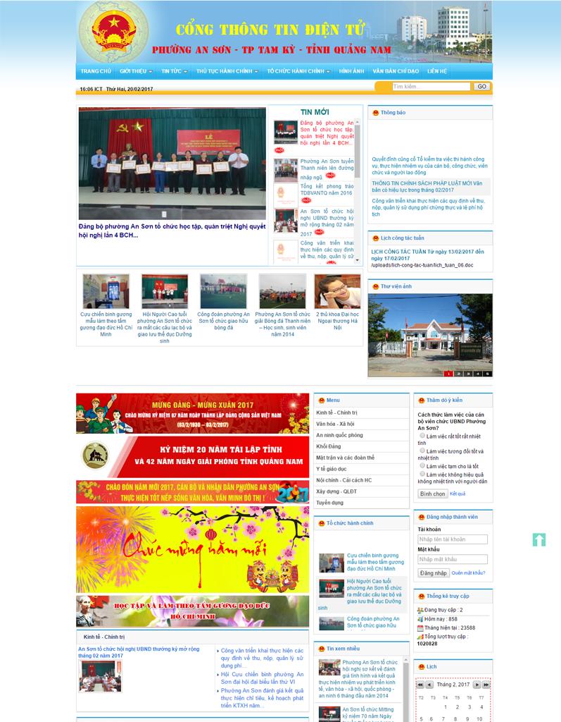 Web tin tức phường An Sơn TP Tam Kỳ
