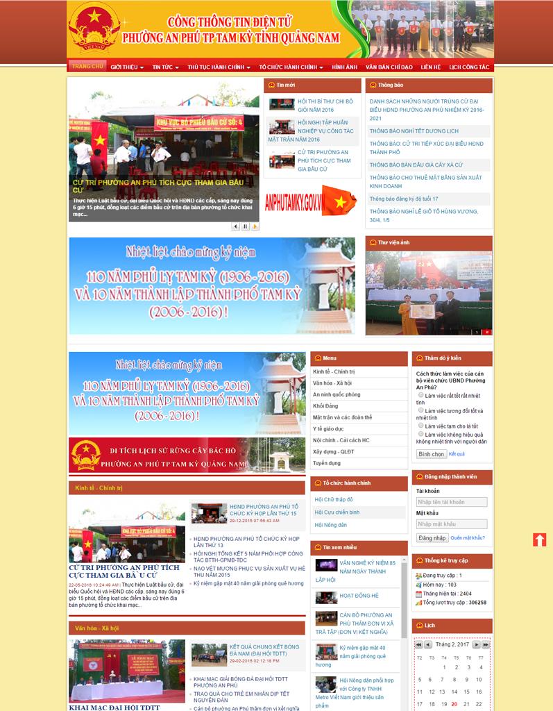 Web tin tức phường An Phú TP Tam Kỳ