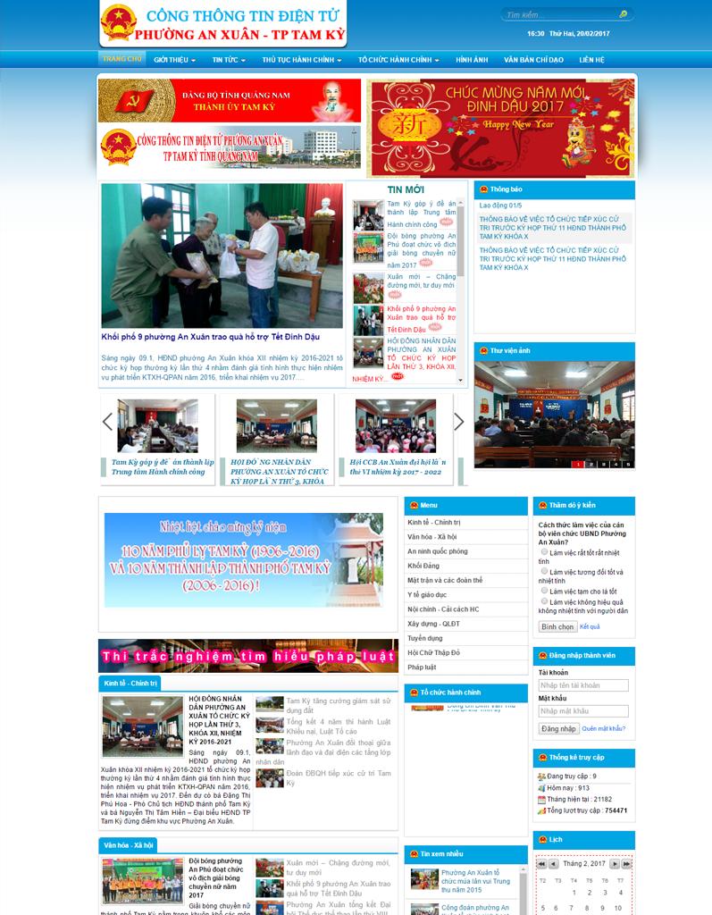 Web tin tức phường An Xuân TP Tam Kỳ